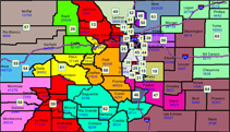 colorado state house district maps