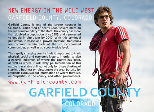 new energy in the wild west, Garfield County, County Profile, demographics, Rifle, Silt, New Castle, Parachute, Battlement Mesa, Glenwood Springs, Carbondale