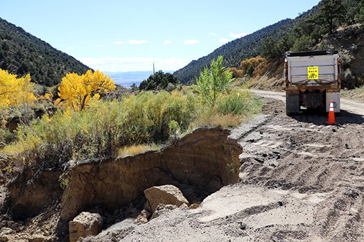 Harvey gap road damage