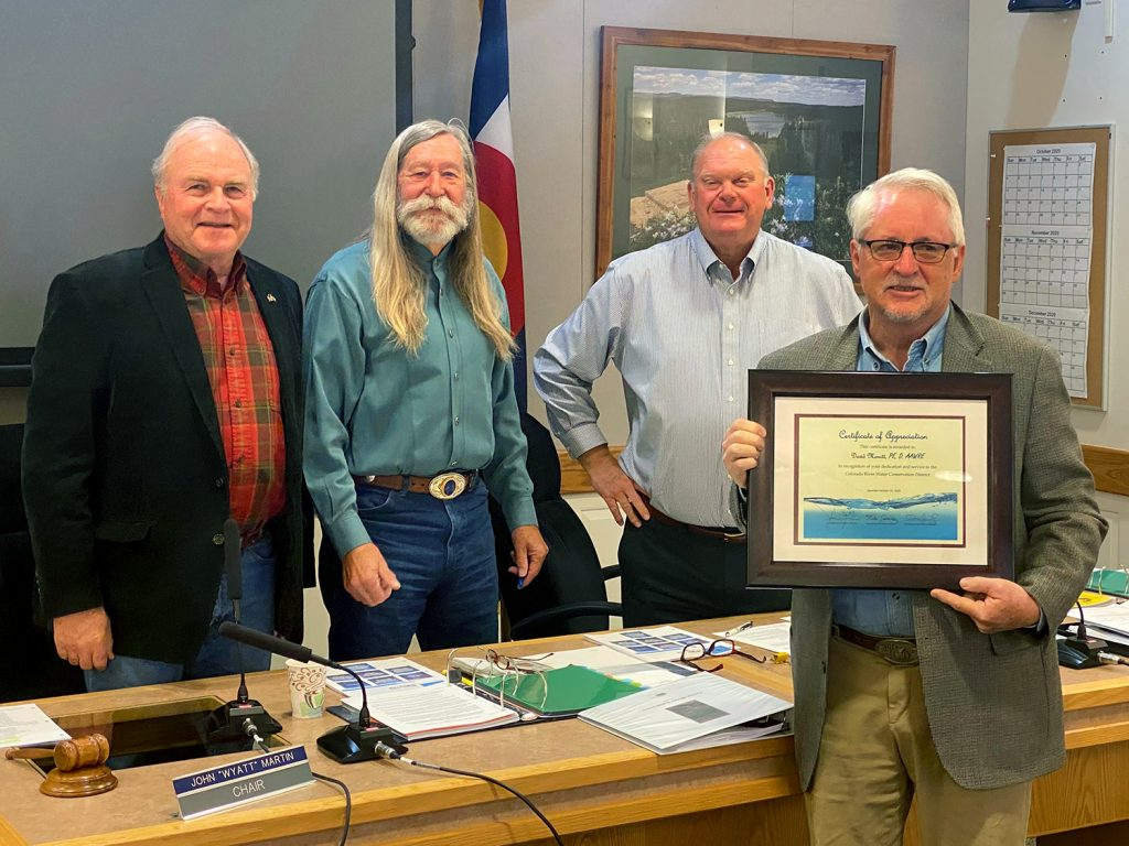 Board honors Merritt's commitment to water issues