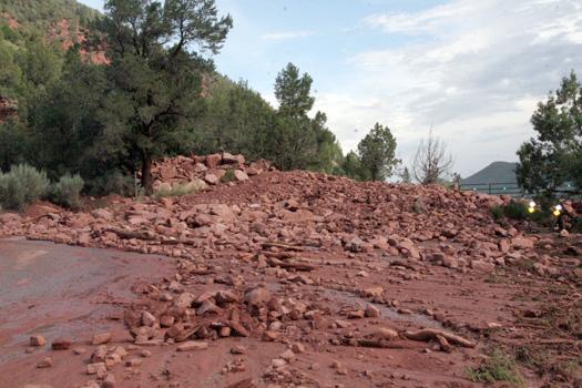 mudslide buries entrance