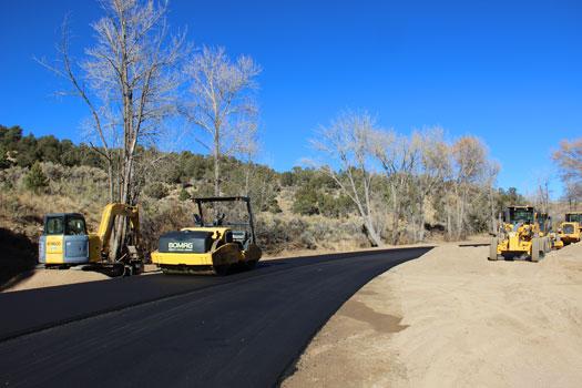 road work on harvey gap road