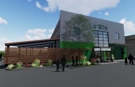 mock-up of new Garfield County Education Center