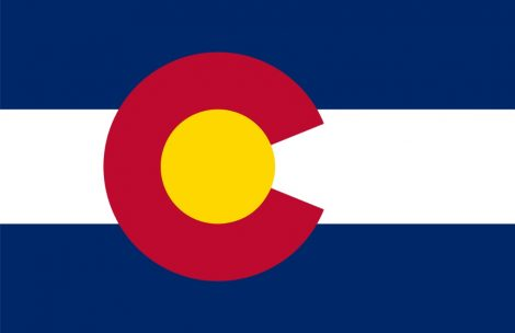 Flag of the state of Colorado