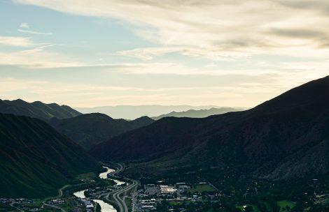 Clean air over Glenwood Springs, Colorado