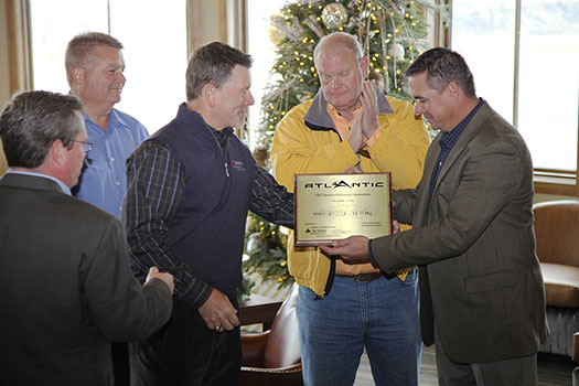 Atlantic Aviation presents plaque at Garfield County Airport