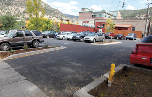 7th and Colorado parking lot entrance