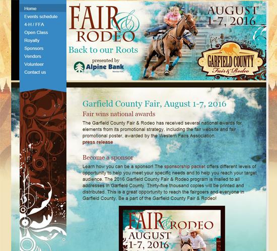 garfield county fair & rodeo August 1-7, 2016