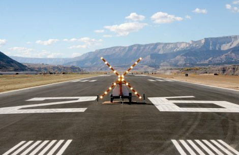 The runway at the Rifle Garfield County Airport.