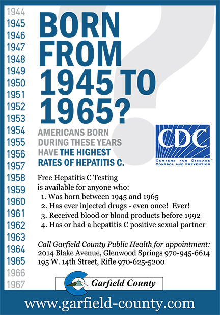 born from 1945 to 1965? CDC
