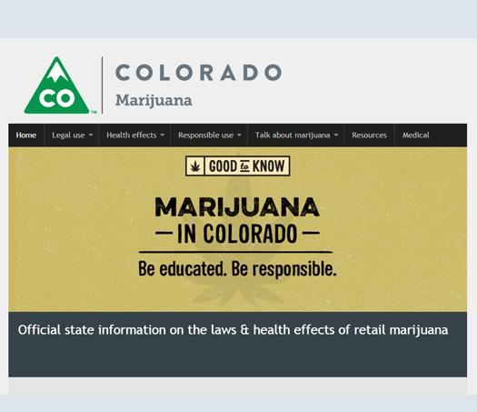 State of Colorado marijuana resources