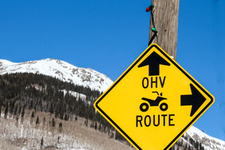 ohv route sign