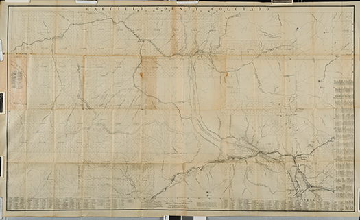 Garfield County Road Map of 1888